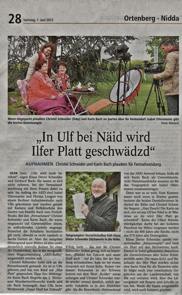 ARD Buffet Dialekträtsel mit Karin Bach und Christel Schneider