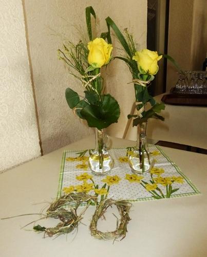 Landfrauenverein Borsdorf gelbe Rosen