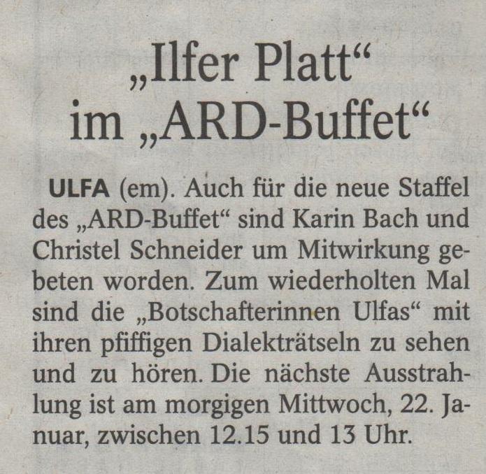 ARD Buffet Dialekträtsel